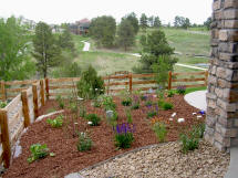 Landscaping Project by Rittz Services:  Rock, Mulch and Plants