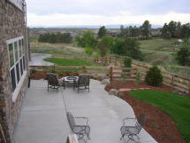 Concrete and Landscaping Project by Rittz Services:  Concrete Patio, Sod & Mulch