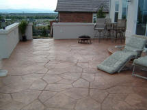 Concrete Project by Rittz Services:  Stamped Concrete Patio