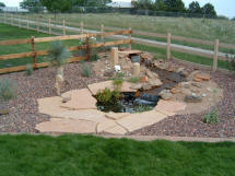 Landscaping Project by Rittz Services:  Water Feature With Pond